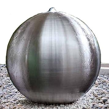Edelstahlkugel Brunnenkugel Matt Gebürstet Loch Brunnenbau Kugelbrunnen  Brunnen (25 Cm)