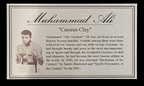 Muhammad Ali Silver Metal Plaque Nameplate For Signed Box...