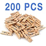 Mini, Natural Clothespins Craft Boutique, Wood, 200 Per Pack, Wooden Pins for Scrapbooking Wood Crafts