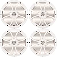 Wet Sounds Bundle: Two pairs of SW-808 Series White Grill 8 Speakers. 150 Watts RMS Each
