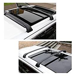 Beamtop roof rack cross bars fit Toyota Highlander XLE 2014-2016 154LBS Load Capacity (with actual side rails)