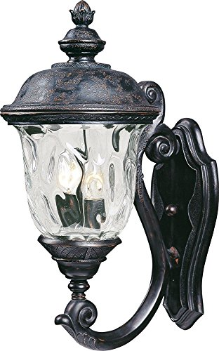 Maxim Lighting 40423WGOB Carriage House VX 2-Light Bottom Mount Outdoor Wall Lantern, Oriental Bronze Finish