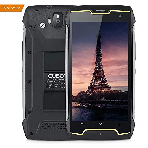CUBOT King Kong IP68 Rugged Waterproof Unlocked Smartphone, 1.3GHz Quad Core with 5.0 HD IPS Touch Display, 4400mAh, Android 7.0, Dual SIM/Dual Camera (13MP + 8MP), WiFi/GPS, 2GB RAM+16GB ROM, 3G