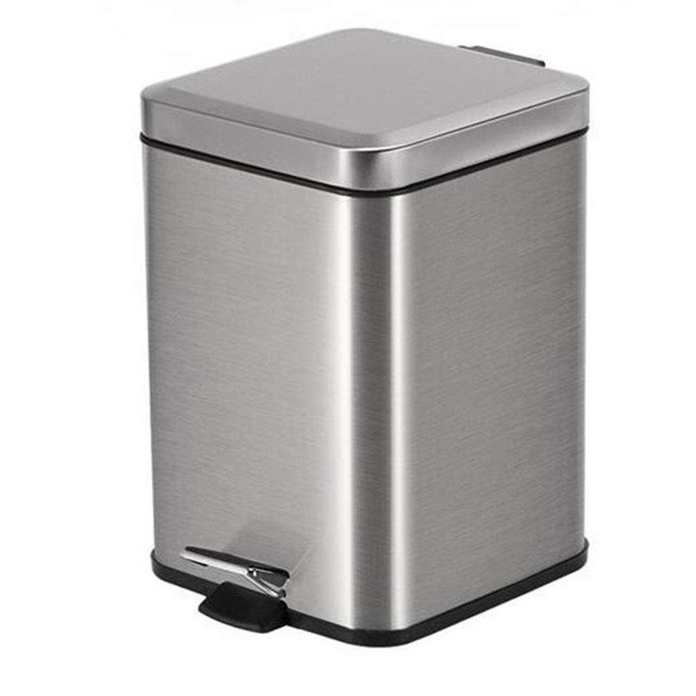 12 Litre Pedal Bin with Plastic Inner Bucket, Stainless Steel Trash Can, Recycling Bin for Kitchen/Bedroom/Bathroom/Garden and Toilet, Fit for Paper, Glass, General and Food Wastes,Blue MJ&ULI