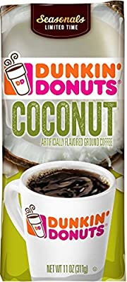 Dunkin' Donuts Coconut Flavored Ground Coffee, 11 oz