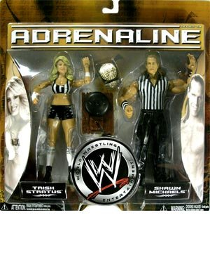 TRISH STRATUS and SHAWN MICHAELS - WWE Wrestling Adrenaline Series 20 Figure ... (Stratus Trish Wrestling)