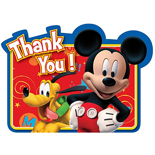 Disney Thank You Cards (8-Count Mickey Postcard Thank You)