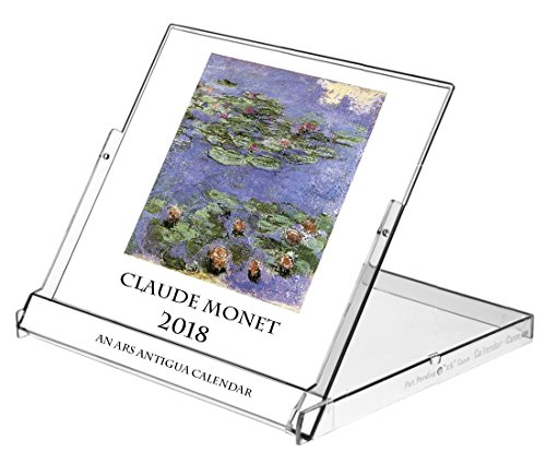 Ars Antigua 2018 Claude Monet 16 month CD-style Desk Calendar (Jan. 1, 2018 - March 30, 2019), Choose the image you want displayed for any month