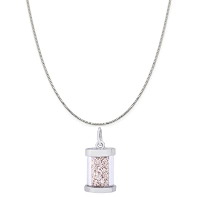 Box or Curb Chain Necklace Rembrandt Charms Two-Tone Sterling Silver Daughter Charm on a Sterling Silver 16 18 or 20 inch Rope