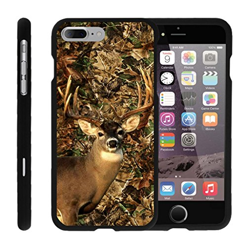 Case for iPhone 7 Plus | iPhone 7s Plus Slim Case [Snap Shell] iPhone 7 + Hard Shell Case with Unique Designs by MINITURTLE - Deer Hunting Leaves