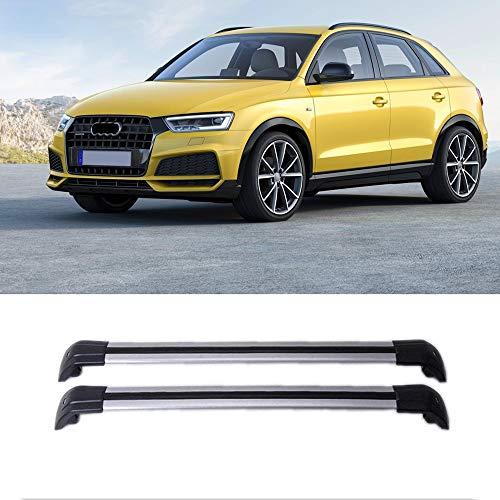 MotorFansClub Luggage Rack Top Roof Rack Cross Bar Crossbar w/Lock for Audi Q3 2013 2014 2015 2016 2017