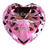 Personalized Custom Engraved Crystal Diamonds (PINK)