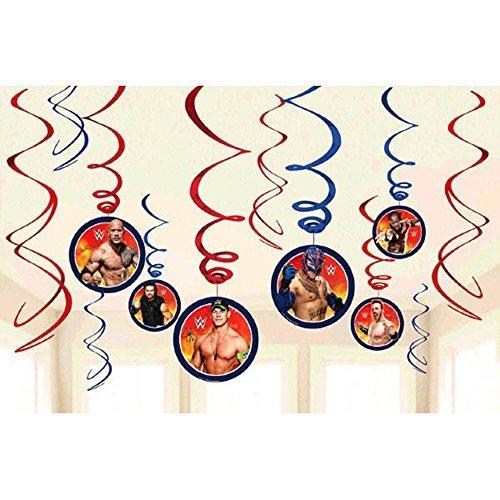WWE Wrestling Hanging Swirl Decorations (12pc) -