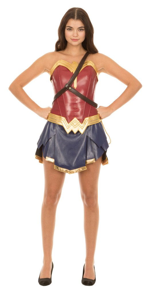 Dc Comics Wonder Woman Warrior Corset and Skirt Costume Set (Adult Small)