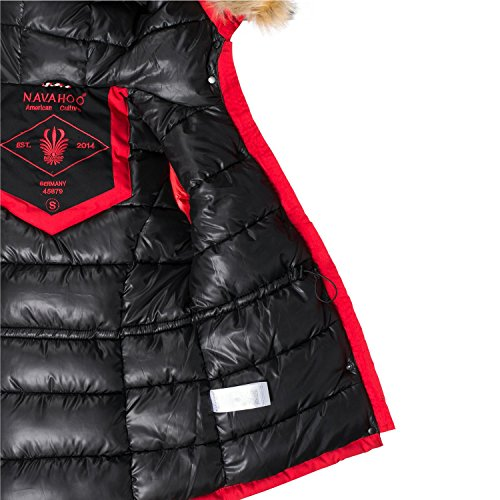 Puffer XXL Winter Jacket Ladies Colors Navahoo XS 10 Laura Red Ct1wqFxnRf