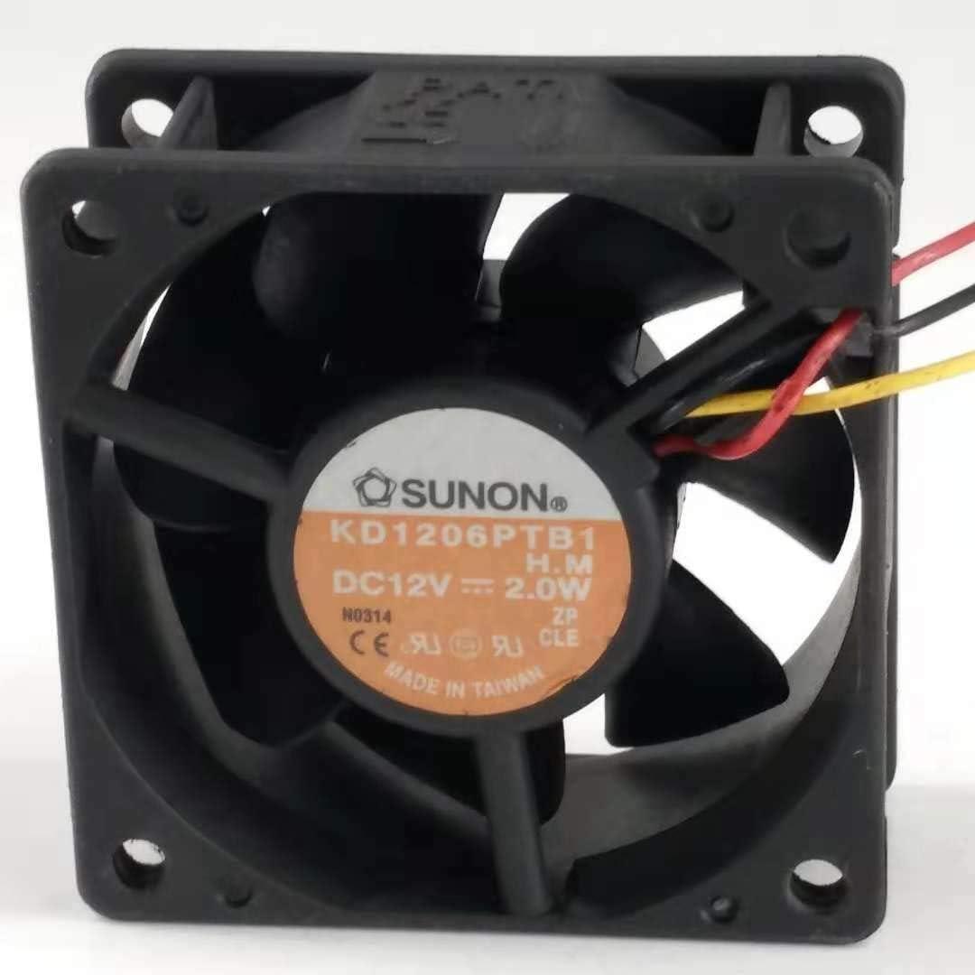 for SUNON KD1206PTB1 6025 DC12V 2.0W 606025mm 6CM Cooling Fan