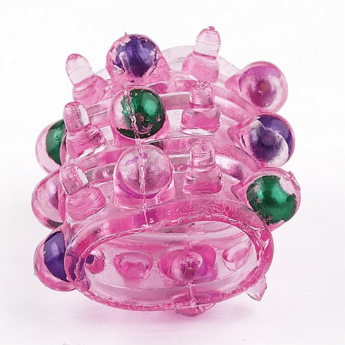 Silicon Pearls Finger Fun Function Cock Ring,Penis Ring, Sex Toys Sleever For Men J0902