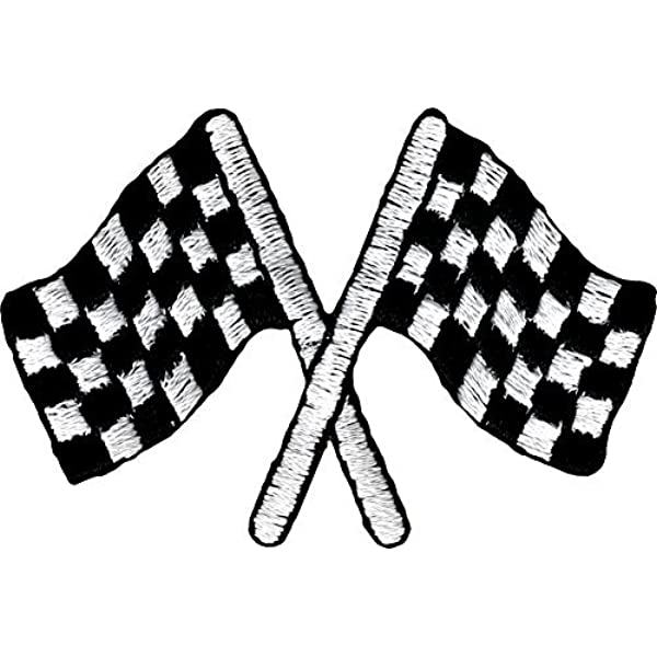 Patch Iron on Embroidered for SUZUKI Checkered Flag Racing Biker Badge Sign Logo