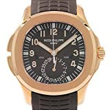 Patek Philippe Aquanaut Travel Time Rose Gold Chocolate Watch 5164R-001