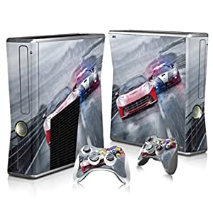 Xinkaize New Quality T2079* Full Body Skin Sticker para Microsoft XBOX360 SLIM Console+2 Controllers