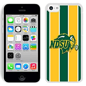 Fashion And Unique iPhone 5C Cover Case NCAA Big Sky Conference Football North Dakota 6 Protective Cell Phone Hardshell Cover Case For iPhone 5C Black Phone Case