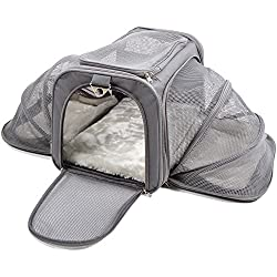Jet Sitter Luxury Expandable Airline Approved Pet Dog Cat Carrier - Travel TSA Soft Sided Carriers