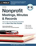 img - for Nonprofit Meetings, Minutes & Records: How to Run Your Nonprofit Corporation So You Don't Run Into Trouble by Anthony Mancuso Attorney Attorney (2011-10-02) book / textbook / text book