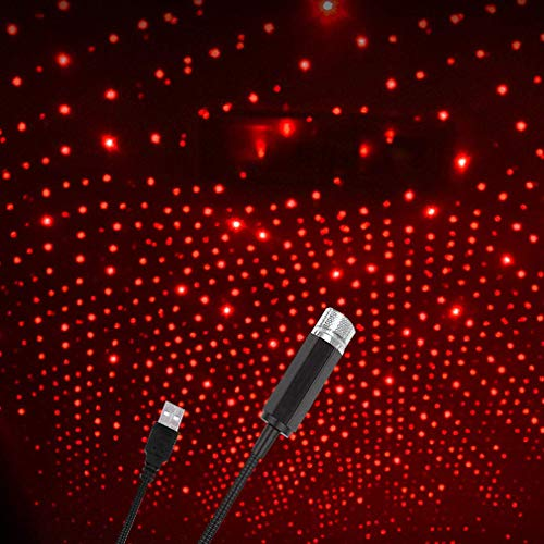 Vanshika Car Interior USB LED Light Accessory Party LED for Car Ceiling Romantic USB Laser Light for Car Portable…