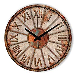 Frozen Silent Decorative Wall Clock Abstract Wall Decoration Clock Watch Living Room Vintage Home Decor Wall Clock Gift Style 1 12inch 30cm