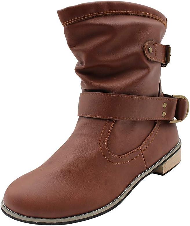 Gtagain Chaussures Femme Bottes et Bottines Femmes Cuir