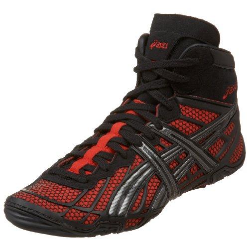 UPC 883722532161, ASICS Men's Dan Gable Ultimate Wrestling Shoe,Black/Silver/Red,9 D US