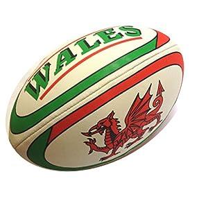Wales Rugby Ball Größe 5 Noppenstruktur