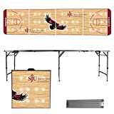 NCAA Saint Josephs University Hawks Basketball Court Version Folding Tailgate Table, 8'