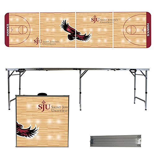 NCAA Saint Josephs University Hawks Basketball Court Version Folding Tailgate Table, 8' by Victory Tailgate