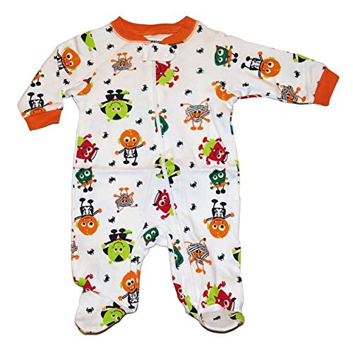 Baby Boys & Girls Goblin Pattern Halloween Footed Bodysuit Outfit Sleep & Play (Newborn) (Goblin Outfit)