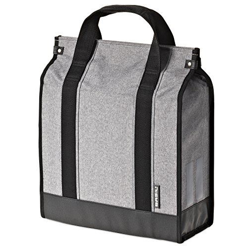 17 Shopper (Basil Route Shopper Bicycle Pannier - Grey - 17 Litres)