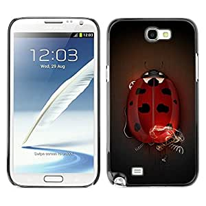 Cubierta de la caja de protección la piel dura para el SAMSUNG GALAXY NOTE 2 / N7100 - Big Ladybug