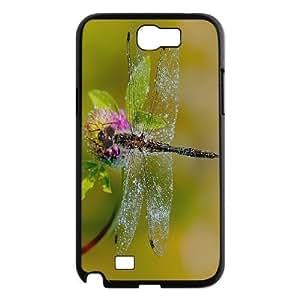 Dragonfly Custom Cover Case for Samsung Galaxy Note 2 N7100,diy phone case ygtg629796