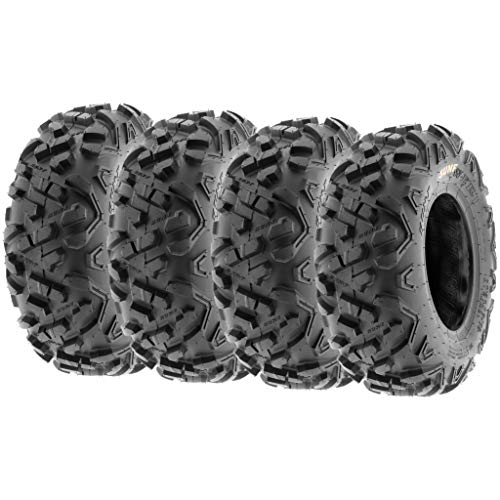 Set of 4 SunF Power.II ATV Go-Kart Tires 145/70-6 (14x6-6) Front & 145/70-6 (14x6-6) Rear, All-Terrain Off Road, 6 PR, A051