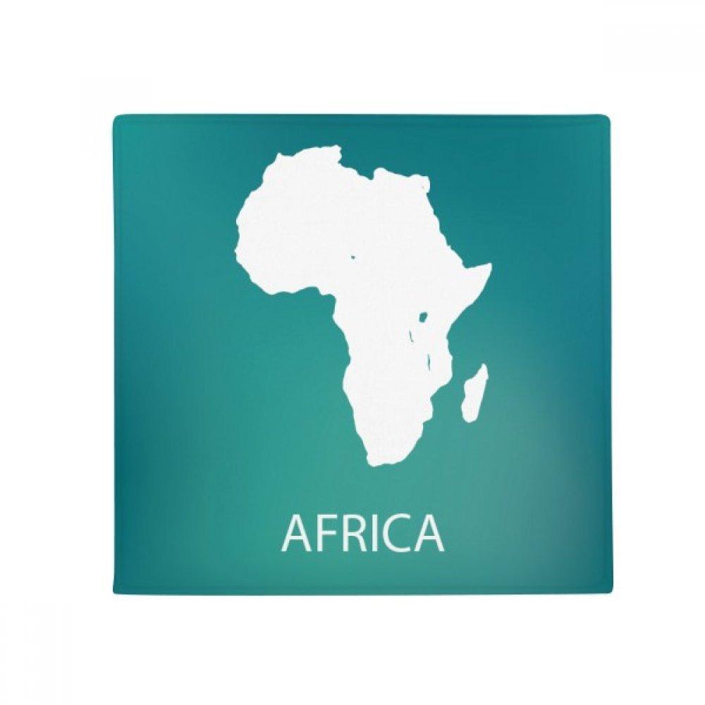 DIYthinker Africa Continent Outline Silhouette Map Anti-Slip Floor Pet Mat Square Home Kitchen Door 80Cm Gift