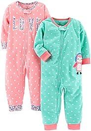 Carter's Baby-Girls 2-Pack Fleece Footless Pajamas Blanket Sle