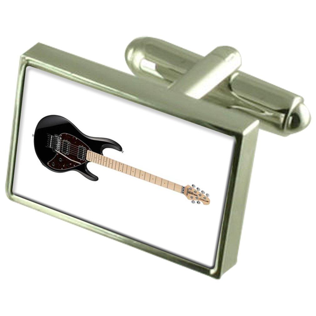 Guitarra eléctrica en Caja Gemelos Plata 925: Amazon.es: Joyería