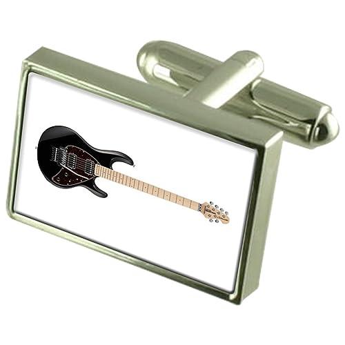 Guitarra eléctrica gemelos Cuadro de Mensaje grabado: Amazon.es: Joyería