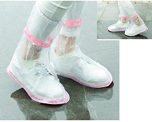 Lining Size LU2000 Footies Rain Medium Close Sheath with Shoes Waterproof for Housing Unisex Outdoors Rainy Clear qrZw4Oq