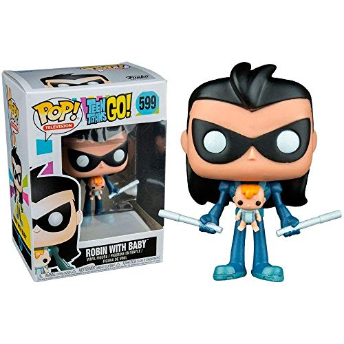 Funko Pop! Television Teen Titans Go - Robin with Baby #599