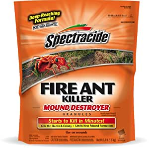Spectracide HG-53225 Fire Ant Killer Mound Destroyer Granules, 3.5-Pound, Pack of 1