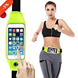 Running Belts, Running Belt Waist Pack Fanny Pack Pouch, iPhone 6 , 6s, 7 8 Plus Holder for Runners, cards, keys, money belt outdoor sports, jogging, cycling for women, men (Yellow) For Sale