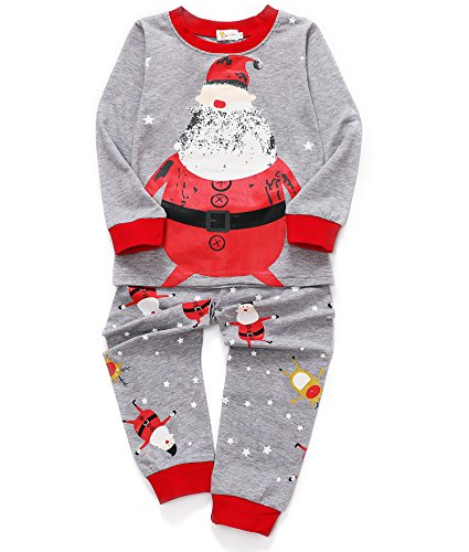Dhasiue Kids & Toddler Santa Claus Pajamas Christmas 2 Piece Cotton Pjs Set Boys Girls Sleepwear 2-3 (Santa 2 Piece Set)