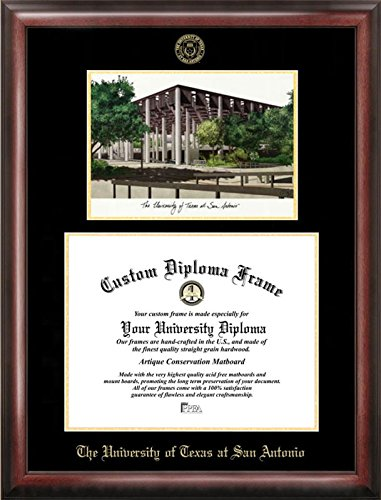 Campus Images TX948LGED University of Texas, San Antonio Embossed Diploma Frame with Lithograph Print, 11