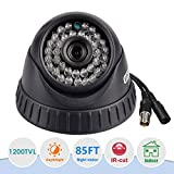 Cheap EWETON 1/4″ CMOS 1200TVL CCTV Home Surveillance 3.6mm Lens Wide Angle 36 Led Indoor Dome Security Camera with IR Cut-85ft Night Vision Distance, Plastic Housing Black